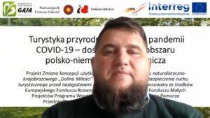 """WEBINARIUM """"TURYSTYKA PRZYRODNICZA WDOBIE PANDEMII COVID-19 – DOŚWIADCZENIA ZOBSZARU POLSKO-NIEMIECKIEGO POGRANICZA"""""""